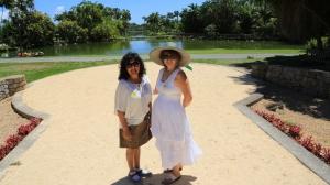 Jo and Lulu my two companions exploring Fairchild Gardens